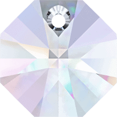 # 6401 - 8mm Swarovski Octagon Pendant - Crystal AB