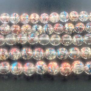 9017 - 6mm Rainbow Synthetic Bead