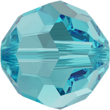 5000 - 8mm Swarovski Faceted Round Bead - Light Turquoise