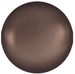 5810 – 10mm Swarovski Round – Velvet Brown Pearl