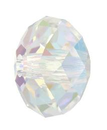 5041 - 18mm Swarovski Briolette Beads (Large Hole) - Crystal AB