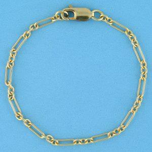 # 2325 - 14K/20 Gold Filled Long & Short Chain For Bracelet - 7 inches