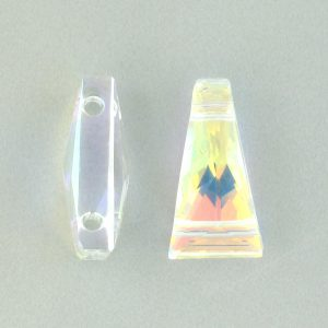 5181 - 13x7mm Swarovski Keystone Bead (Two Holes) - Crystal AB