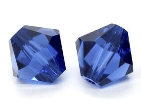 5301/5328 - 3mm Swarovski Bicone Crystal Bead - Dark Sapphire