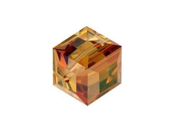 5601 - 4mm Swarovski Cube Crystal - Crystal Copper