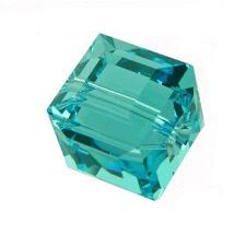 5601 - 4mm Swarovski Cube Crystal - Light Turquoise