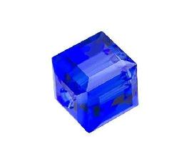 5601 - 4mm Swarovski Cube Crystal - Majestic Blue