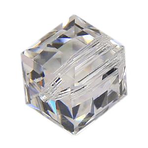 5601 - 4mm Swarovski Cube Crystal - Crystal Moonlight