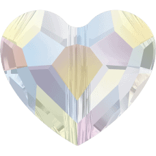#5741 - 8mm Swarovski Crystal Love Bead - Crystal AB