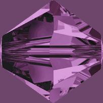 5301/5328 - 2.5mm Swarovski Bicone Crystal Bead - Amethyst
