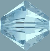 5301/5328 - 2.5mm Swarovski Bicone Crystal Bead - Aquamarine