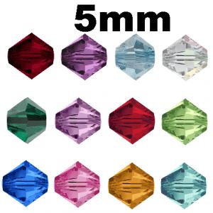 5301/5328 - 5mm Swarovski Birth-month Colors - 12 Dz. Pack