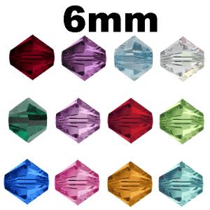 5301/5328 - 6mm Swarovski Birth-month Colors - 12 Dz. Pack