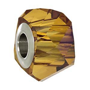 5928 - 14mm Swarovski BeCharmed Helix Bead - Crystal Copper