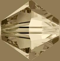 5301/5328 - 2.5mm Swarovski Bicone Crystal Bead - Golden Shadow