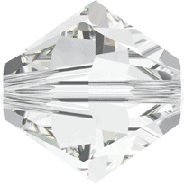 5301/5328 - 2.5mm Swarovski Bicone Crystal Bead - Crystal