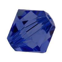 5301/5328 - 8mm Swarovski Bicone Crystal Bead - Dark Sapphire