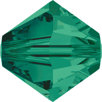 5301/5328 - 2.5mm Swarovski Bicone Crystal Bead - Emerald
