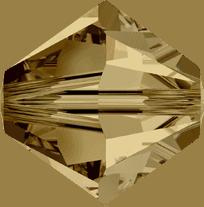 5301/5328 - 2.5mm Swarovski Bicone Crystal Bead - Light Colorado Topaz