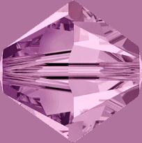 5301/5328 - 2.5mm Swarovski Bicone Crystal Bead - Light Rose