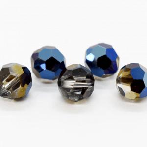 5000 - 8mm Swarovski Faceted Round Bead - Crystal Metallic Blue