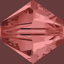 5301/5328 - 3mm Swarovski Bicone Crystal Bead - Padparadscha