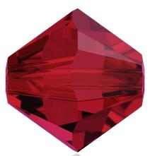 5301/5328 - 2.5mm Swarovski Bicone Crystal Bead - Scarlet