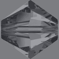 5301/5328 - 8mm Swarovski Bicone Crystal Bead - Crystal Silver Night