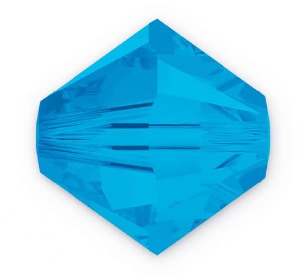 5301/5328 - 8mm Swarovski Bicone Crystal Bead - Caribbean Blue Opal