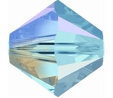 5301/5328 - 8mm Swarovski Bicone Crystal Bead - Aquamarine AB 2X