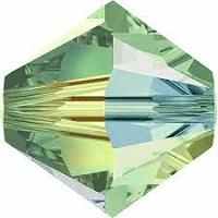 5301/5328 - 6mm Swarovski Bicone Crystal Bead - Chrysolite AB 2X