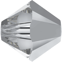 5301/5328 - 3mm Swarovski Bicone Crystal Bead - Comet Argent Light