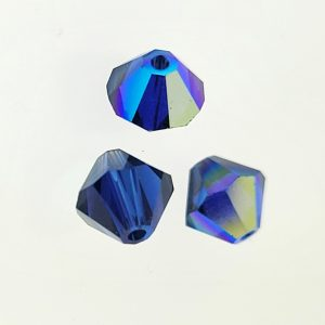 5301/5328 - 6mm Swarovski Bicone Crystal Bead - Dark Sapphire AB