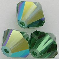 5301/5328 - 6mm Swarovski Bicone Crystal Bead - Green Turmaline AB