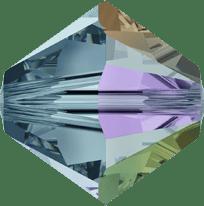 5301/5328 - 6mm Swarovski Bicone Crystal Bead - Indian Sapphire AB