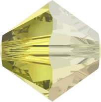 5301/5328 - 3mm Swarovski Bicone Crystal Bead - Jonquil Satin