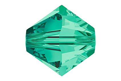 5301/5328 - 6mm Swarovski Bicone Crystal Bead - Light Emerald