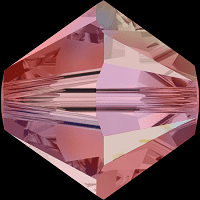 5301/5328 - 6mm Swarovski Bicone Crystal Bead - Padparadscha AB 2X