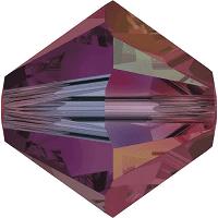 5301/5328 - 6mm Swarovski Bicone Crystal Bead - Ruby AB 2X
