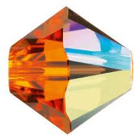 5301/5328 - 6mm Swarovski Bicone Crystal Bead - Sun AB